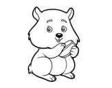 <span class='hidden-xs'>Coloriage de </span>Hamster boulot à colorier