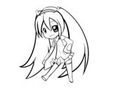 <span class='hidden-xs'>Coloriage de </span>Hatsune Vocaloid à colorier