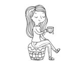 Dibujo de Heure du thé