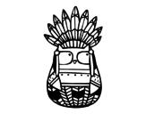 Dibujo de Hibou chef indien