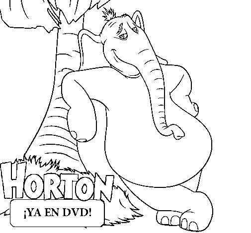 Coloriage de horton pour colorier for Dr seuss coloring pages horton hears a who