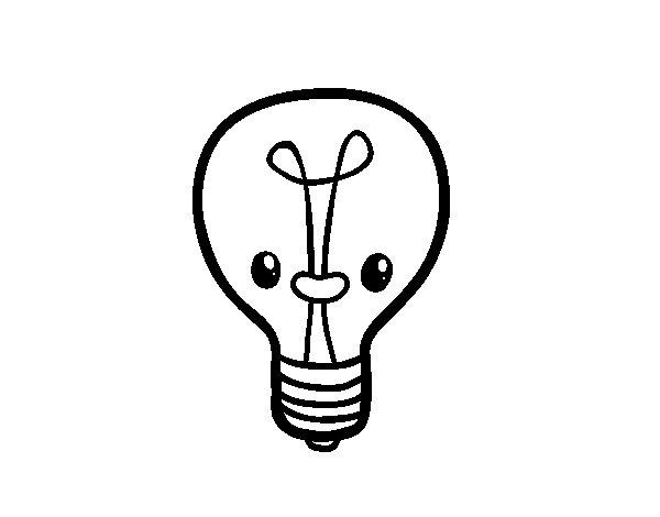 coloriage de id e ampoule pour colorier. Black Bedroom Furniture Sets. Home Design Ideas