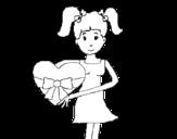 Dibujo de Jeune cœur