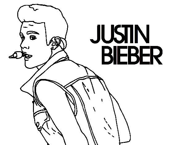Coloriage de justin bieber cantando pour colorier - Justin bieber dessin ...