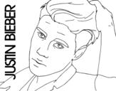 <span class='hidden-xs'>Coloriage de </span>Justin Bieber gros plan à colorier