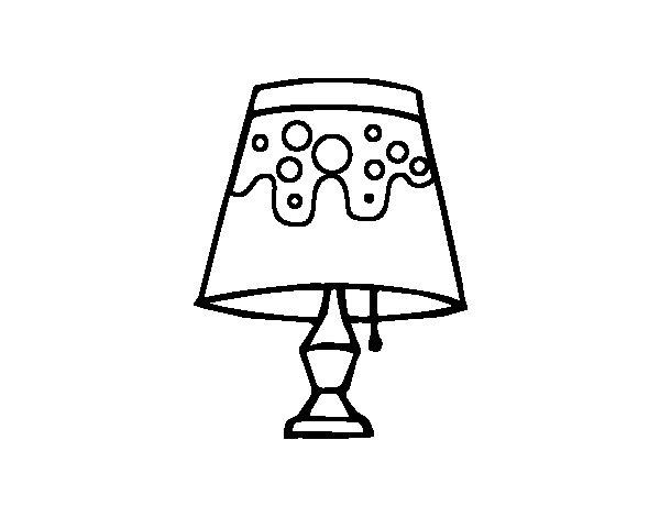 Coloriage de lampe de salon pour colorier - Coloriage lampe ...
