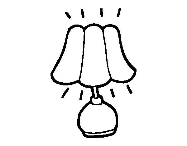 Coloriage de lampes de chevet pour colorier - Coloriage lampe ...