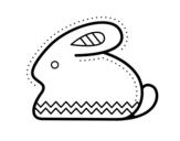 Dibujo de Lapin de Pâques latéral