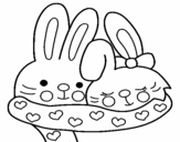 Dibujo de Lapins amouroux