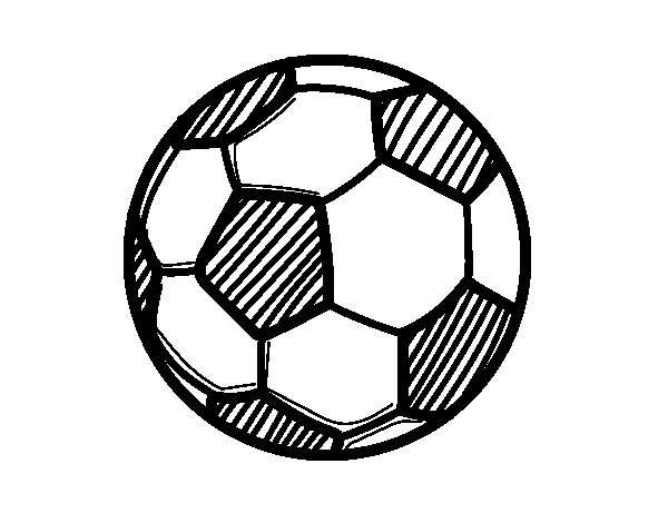 Coloriage de Le ballon de football pour Colorier