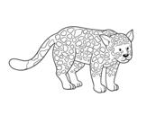 Dibujo de Le guépard féroce