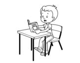<span class='hidden-xs'>Coloriage de </span>Lectures scolaires à colorier