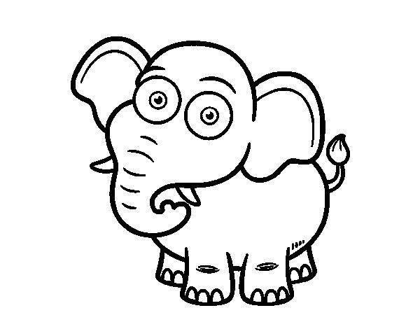 Coloriage de L'Éléphant de savane d'Afrique pour Colorier ...
