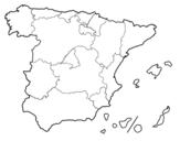 <span class='hidden-xs'>Coloriage de </span> Les Communautés autonomes d'Espagne à colorier
