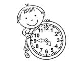 <span class='hidden-xs'>Coloriage de </span>Les heures à colorier