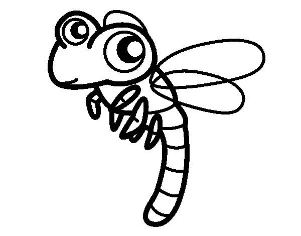 Coloriage de libellule volant pour colorier - Photo de libellule a imprimer ...