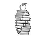 <span class='hidden-xs'>Coloriage de </span>Livres et pomme à colorier
