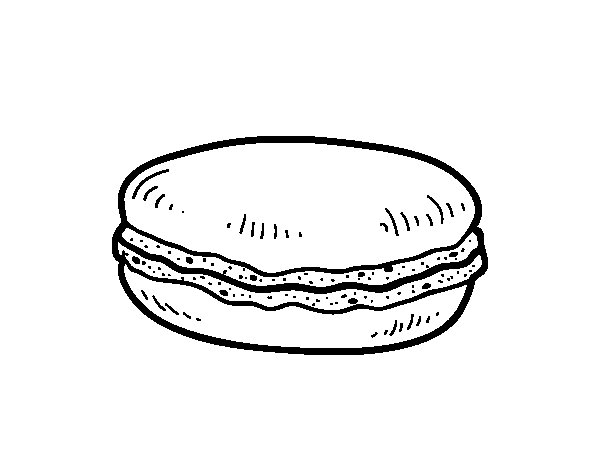 macaroon coloring pages