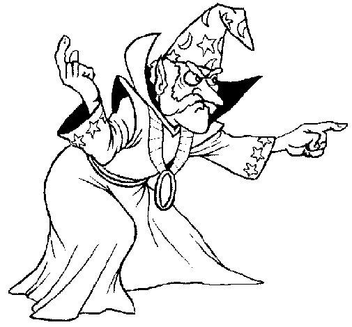 Coloriage de magicien pour colorier - Magicien dessin ...