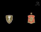 <span class='hidden-xs'>Coloriage de </span>Maillot de la coupe du monde 2014 de l'Espagne à colorier