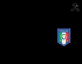<span class='hidden-xs'>Coloriage de </span>Maillot de la coupe du monde 2014 de l'Italie à colorier