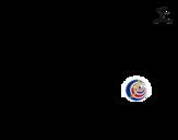 <span class='hidden-xs'>Coloriage de </span>Maillot de la coupe du monde 2014 du Costa Rica à colorier
