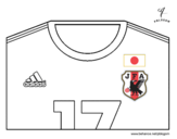 <span class='hidden-xs'>Coloriage de </span>Maillot de la coupe du monde 2014 du Japon à colorier