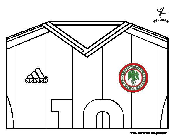 Coloriage De Maillot De La Coupe Du Monde 2014 Du Nigeria
