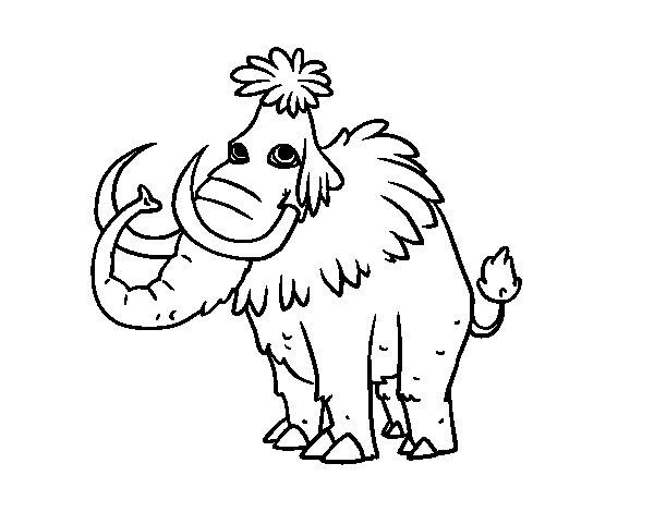 Coloriage de Mammouth préhistorique pour Colorier