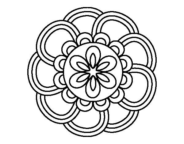 Mandalas Para Pintar Animal Bordeado De Paisaje On: Coloriage De Mandala De Pétales Pour Colorier