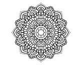 <span class='hidden-xs'>Coloriage de </span>Mandala étoiles décoré à colorier