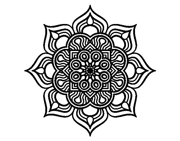 Coloriage de mandala fleur de feu pour colorier - Mandala fleur ...