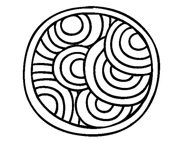 Coloriage de Mandala ronde pour Colorier - Coloritou.com