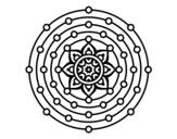 <span class='hidden-xs'>Coloriage de </span>Mandala système solaire à colorier