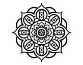 <span class='hidden-xs'>Coloriage de </span>Mandala yeux ouvert à colorier