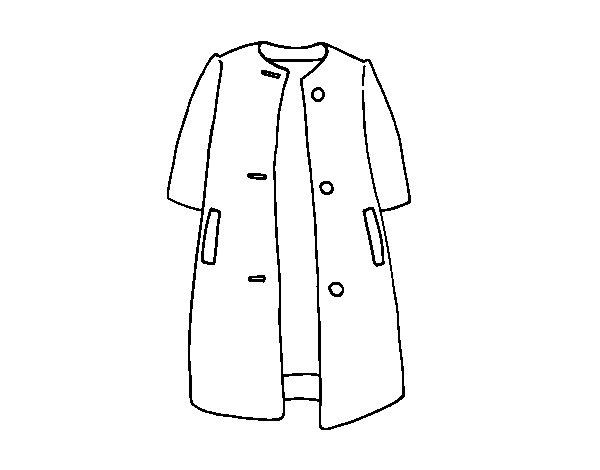 Coloriage de manteau de demi saison pour colorier - Manteau dessin ...