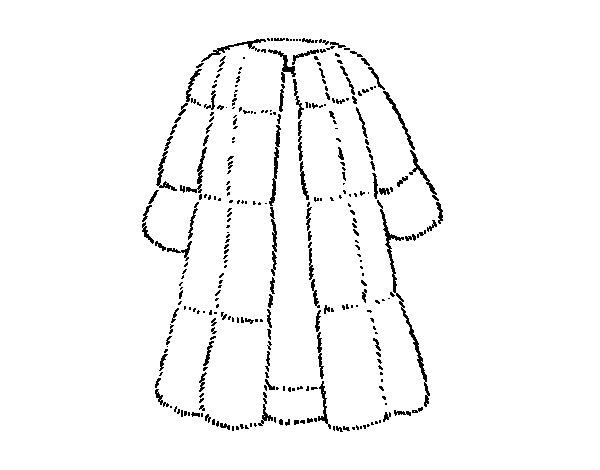 Coloriage de manteau de fourrure pour colorier - Manteau dessin ...