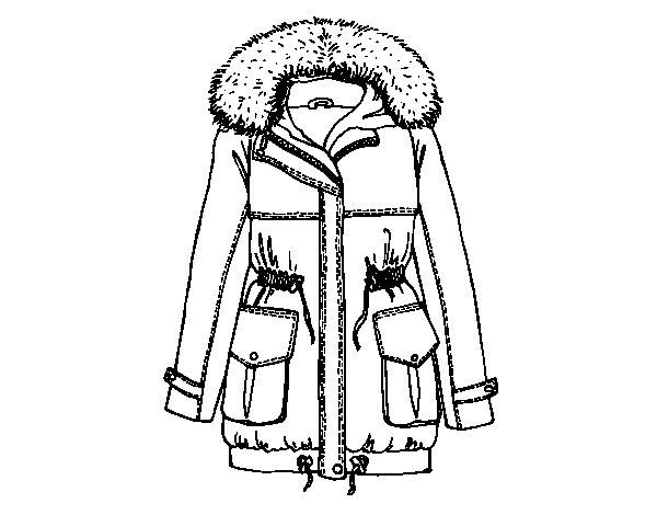 Coloriage de manteau d 39 hiver pour colorier - Manteau dessin ...