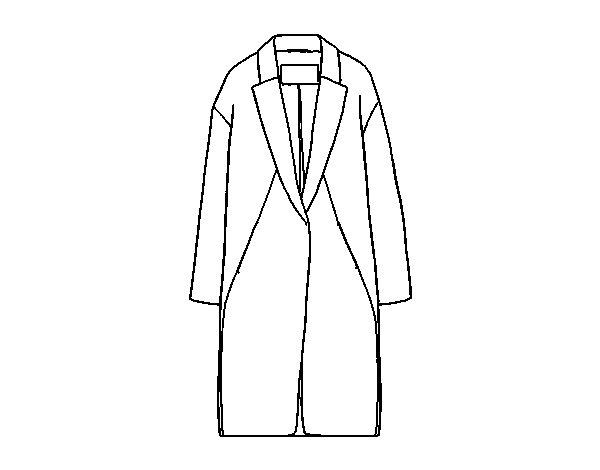 Coloriage de manteau longue pour colorier - Manteau dessin ...