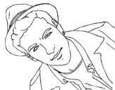 <span class='hidden-xs'>Coloriage de </span>Mario Casas avec un chapeau à colorier