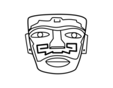 <span class='hidden-xs'>Coloriage de </span>Masque ancestral Aztec à colorier