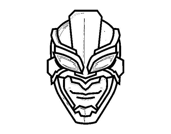 Coloriage de masque de super h ros pour colorier - Masque super heros imprimer ...