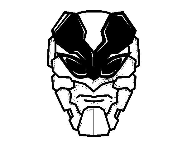Coloriage de Masque homme abeille pour Colorier