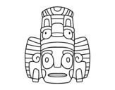 <span class='hidden-xs'>Coloriage de </span>Masque mexicain des rituels à colorier