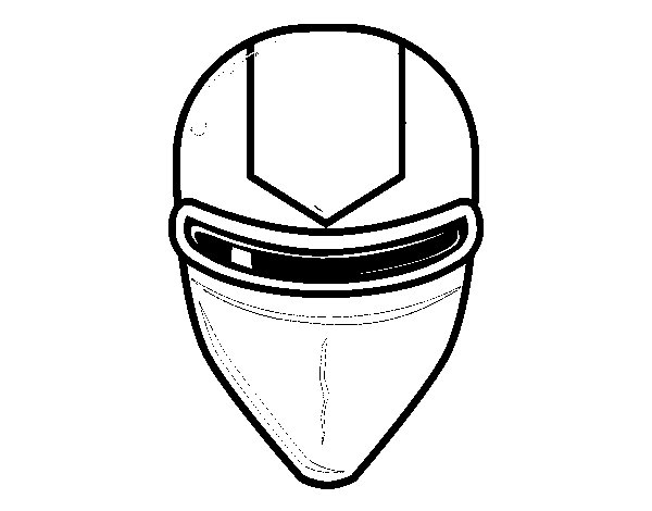 Coloriage de masque rayon laser pour colorier - Masque super heros imprimer ...
