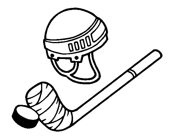 Coloriage De Mat 233 Riel De Hockey Pour Colorier Coloritou Com