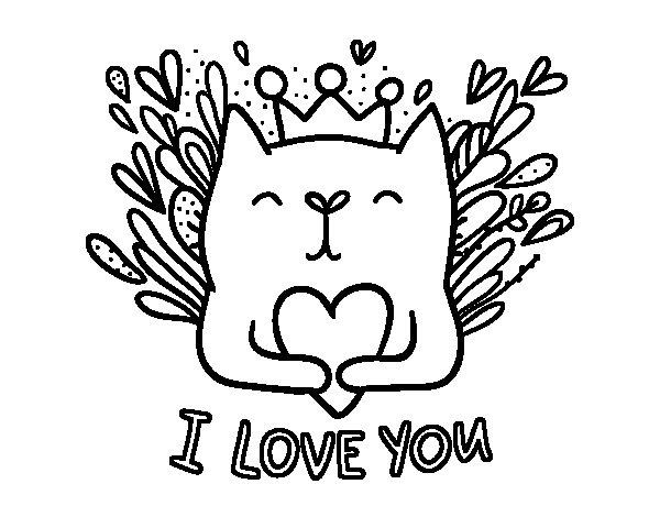 Coloriage de Message d'amour pour Colorier - Coloritou.com
