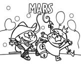 <span class='hidden-xs'>Coloriage de </span>Mois de mars à colorier