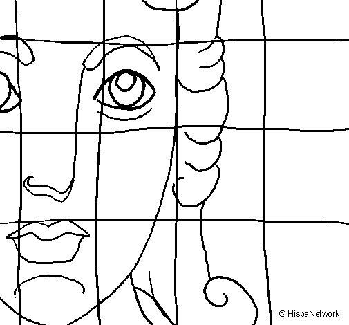 Coloriage de Mosaïque romaine pour Colorier
