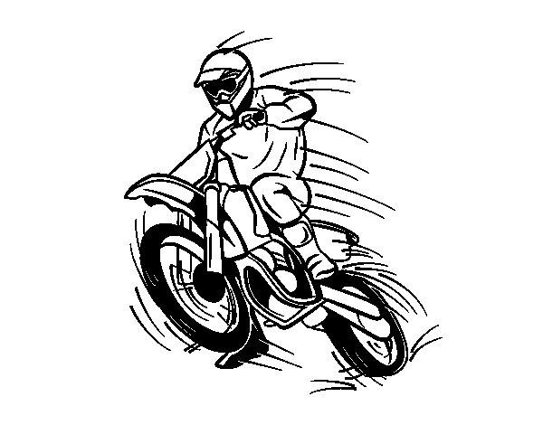 coloriage de moto cross pour colorier